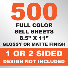 500 Sell Sheets 8.5x11