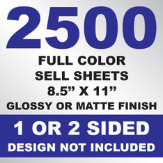 2500 Sell Sheets 8.5x11