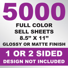 5000 Sell Sheets 8.5x11