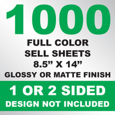 1000 Sell Sheets 8.5x14