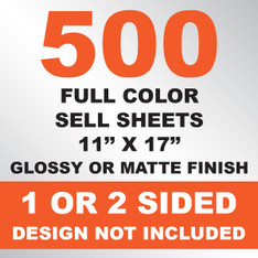 500 Sell Sheets 11x17