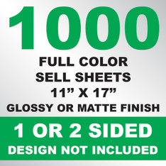 1000 Sell Sheets 11x17