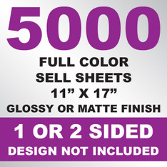 5000 Sell Sheets 11x17