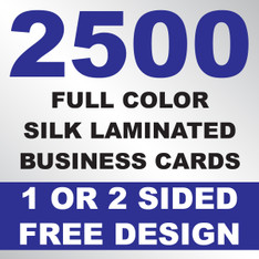2500 Silk Laminated Business Cards