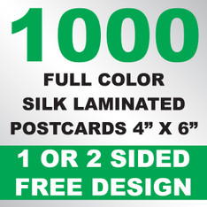 1000 Silk Laminated Postcards 4x6