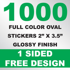 1000 Stickers 2x3.5 (Oval)