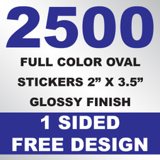 2500 Stickers 2x3.5 (Oval)