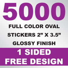 5000 Stickers 2x3.5 (Oval)