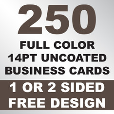 250 14PT Uncoated Business Cards