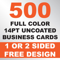 500 14PT Uncoated Business Cards