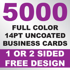 5000 14PT Uncoated Business Cards