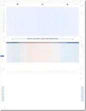 Multi-Color Pressure Seal Z-Fold Check Paper