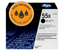 New HP  55X High Yield MICR Toner Cartridge (CE255X)