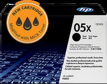 New HP 05X High Yield MICR Toner Cartridge (CE505X)