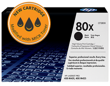 New HP 80X High Yield MICR Toner Cartridge (CF280X)