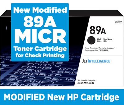 CF289A MICR (Magnetic) Toner for Check Printing.