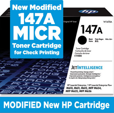 W1470A New MICR Toner for HP LaserJet M610, M611, M612