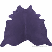 Dyed Purple Cowhide Rug
