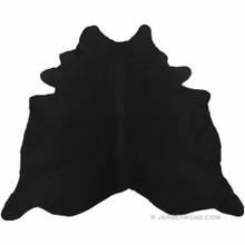 Dyed Black Cowhide Rug