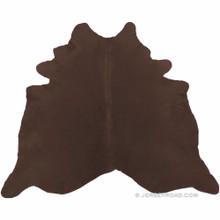 Dyed Chocolate Brown Cowhide Rug