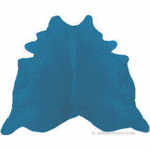 Dyed Bright Blue Cowhide Rug