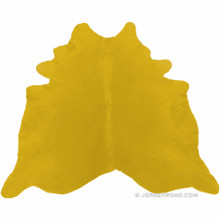 Dyed Bright Yellow Cowhide Rug
