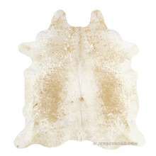 Speckled Beige & White Cowhide Rug