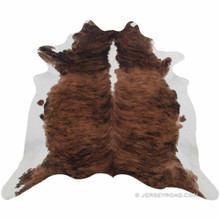 Brindle with White Back Cowhide Rug