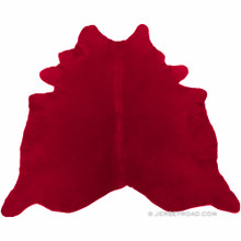 Dyed Red Cowhide Rug
