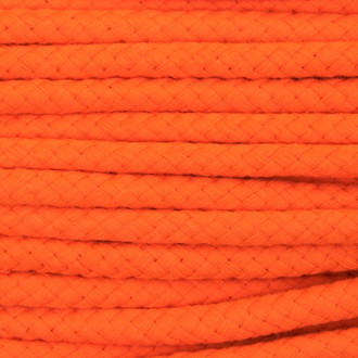 Double Woven Cotton Cord (8 mm):  Orange