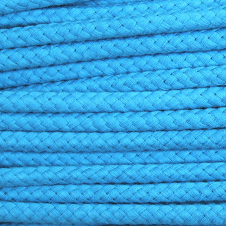 Double Woven Cotton Cord (8 mm):  Aqua