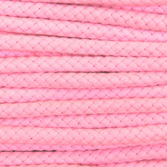 Double Woven Cotton Cord (8 mm):  Pink