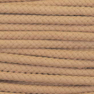 Double Woven Cotton Cord (8 mm):  Camel