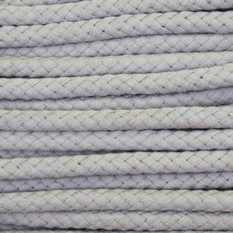 Double Woven Cotton Cord (8 mm):  Grey