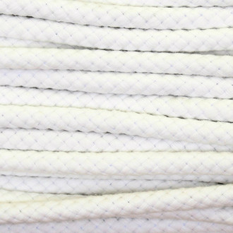 Double Woven Cotton Cord (8 mm):  Off White