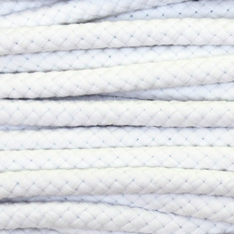 Double Woven Cotton Cord (8 mm):  White