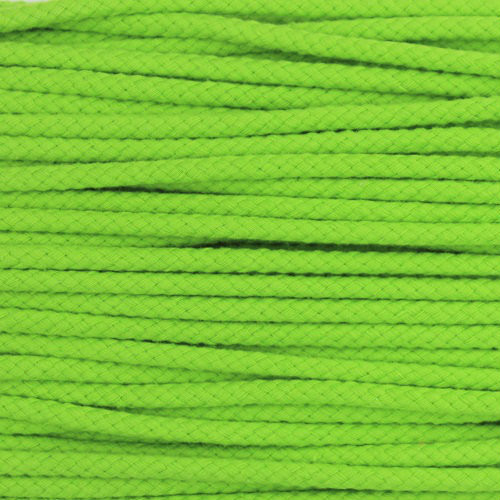 Double Woven Cotton Cord (5 mm):  Lime