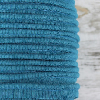 Cotton Knit Piping:  Petrol