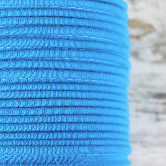Cotton Knit Piping:  Aqua