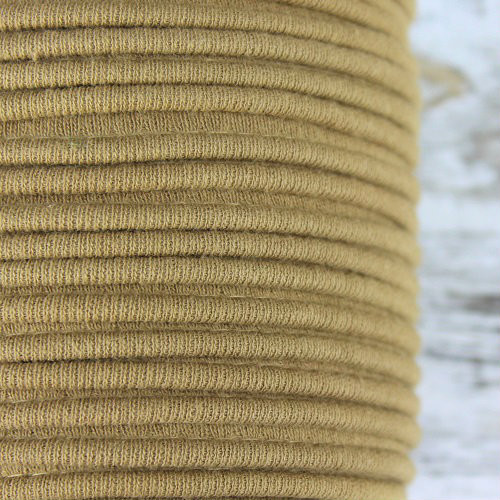 Cotton Knit Piping:  Camel