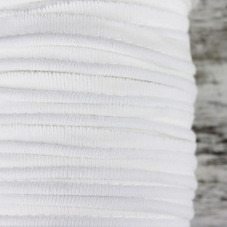 Cotton Knit Piping:  Soft White