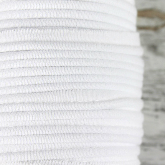 Cotton Knit Piping:  Optical White