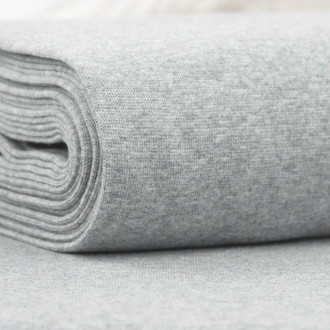 Heike: Heathered Ribbing, Light Grey