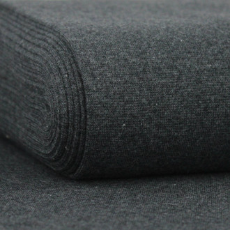 Heike: Heathered Ribbing, Dark Grey
