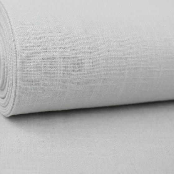 Linen & Cotton Blend Jersey Knit:  White