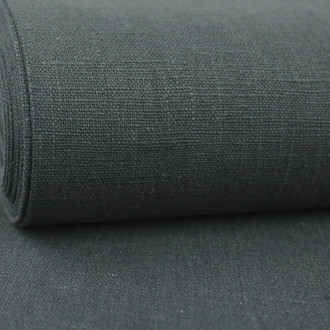Linen 230g Enzyme Washed:  Dark Grey