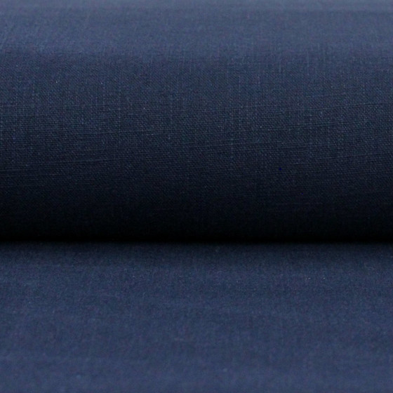 Linen 230g Enzyme Washed:  Navy