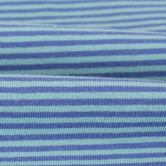 2 mm Yarn Dyed Stripes:  Aqua & Blue