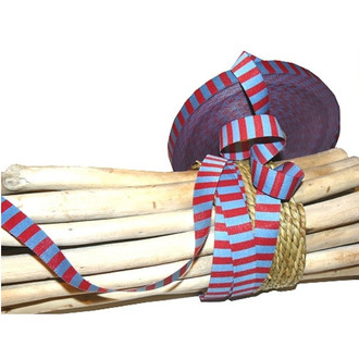 Stripes: Farbenmix reversible ribbon, blue and red