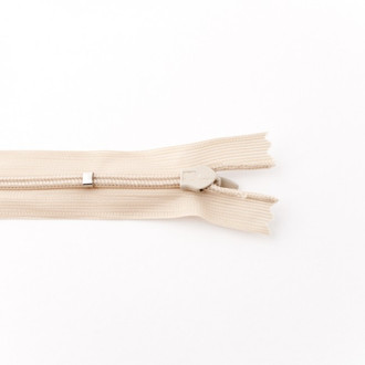 Adjustable Length Invisible Zipper: Sand (25 cm)